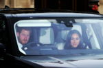 Prince Harry & Meghan Markle arrive to Queens Christmas Lunch