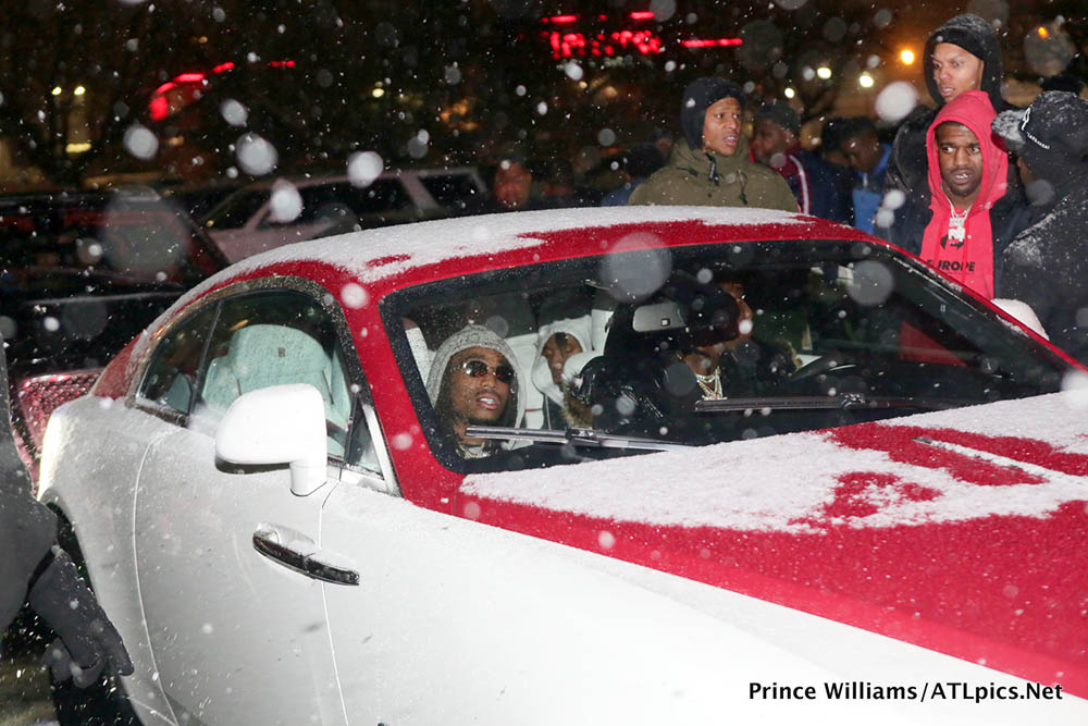 Offset in his Rolls Royce Wraith