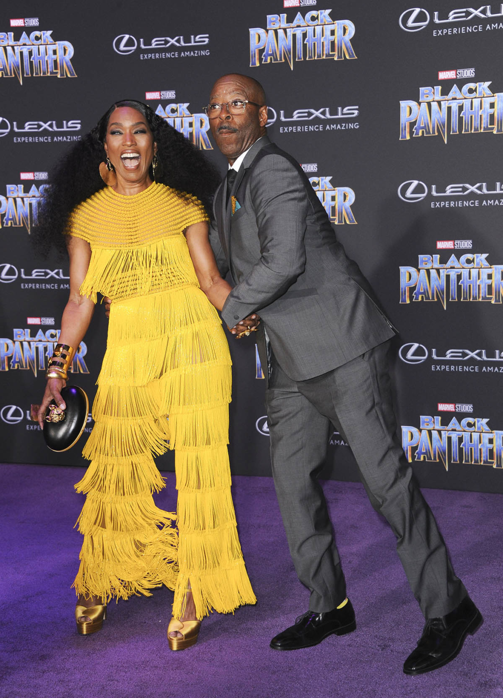 Courtney B Vance Amp Angela Bassett At Black Panther