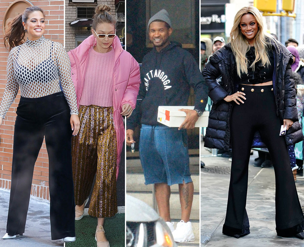 Ashley GRaham, Gigi Hadid, Usher, Tyra Banks