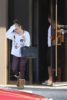 Jennifer Lopez and her boyfriend, A Rod, are spotted leaving the gym after a workout on Sunday.