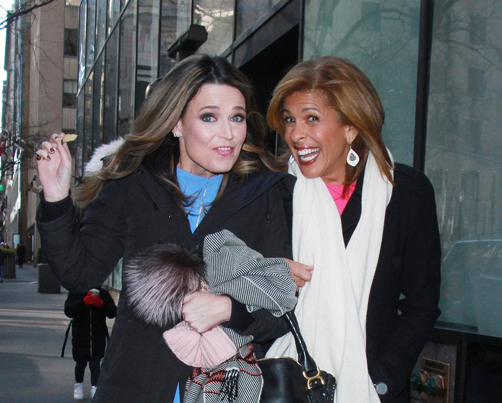 Hoda Kotb and Savannah Guthrie, co-anchors of NBC's Today Show