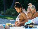 Cassie shows off her bikini body at poolside in Miami