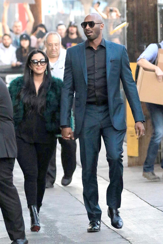 Kobe Bryant And Vanessa Laine Bryant Arrive At Jimmy