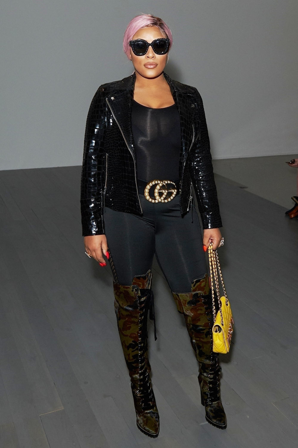 stefflon don at bobby abley front row at london fashion