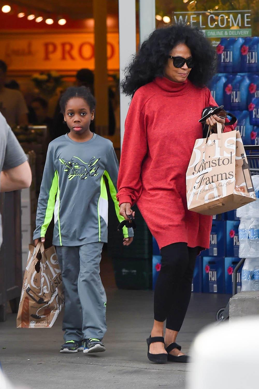 Diana Ross and grandson Raif Henok Kendrick go grocery shopping