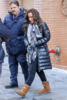 The View co-host Sunny Hostin is seen leaving The View in New York