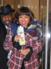 Taraji P. Henson all smiles while while wearing Gucci in NYC