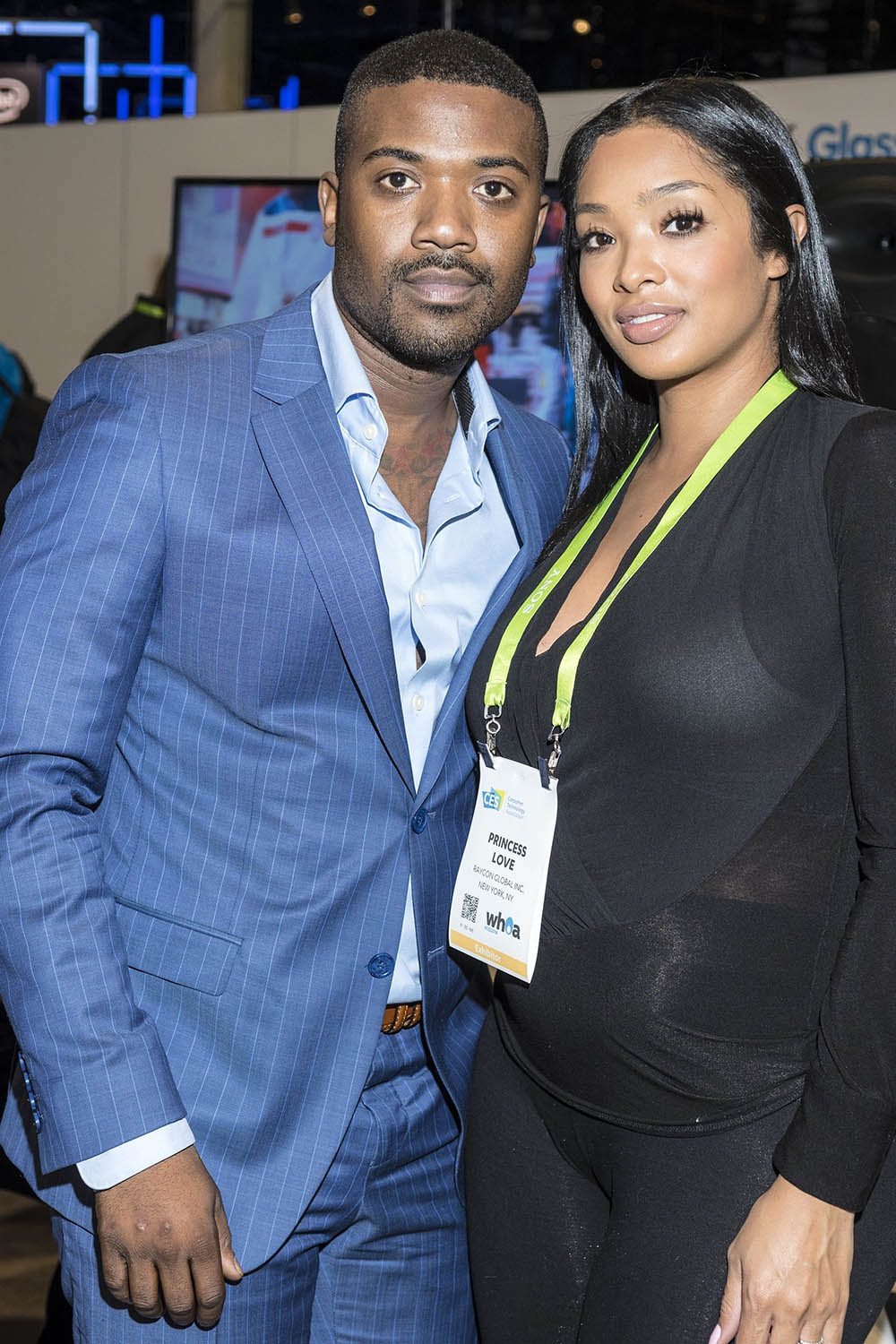 Ray J and Princess Love at CES 2018 in Las Vegas