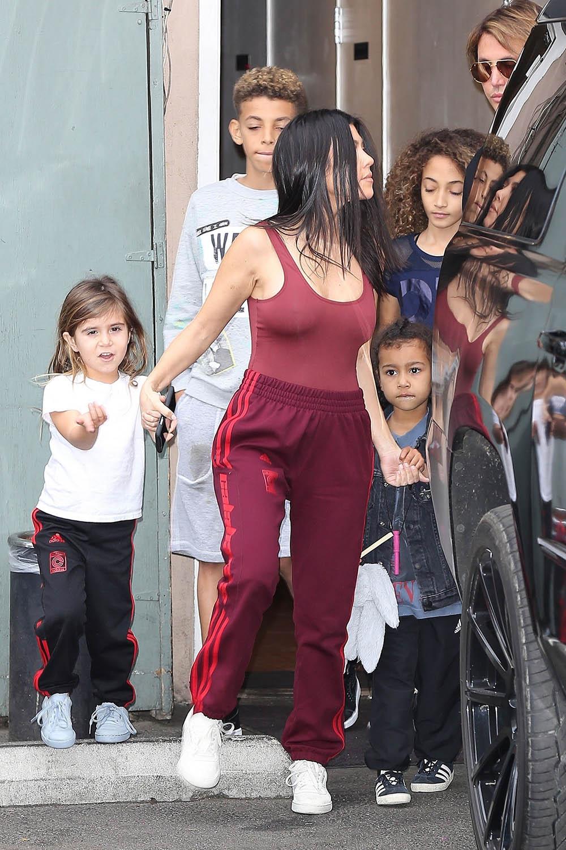 Kourtney Kardashian Babysits Her Niece North West And
