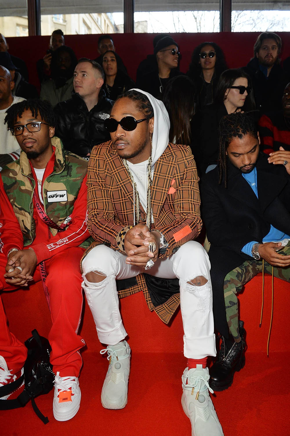 Future at the Off/White Fashion Show in Paris