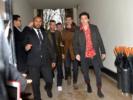 Brooklyn Beckham, David Beckham attend the Louis Vuitton Menswear Fall/Winter 2018-2019
