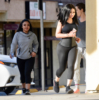Blac Chyna wears a waist trainer while out for a jog with friends