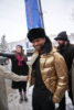 Usher shines in a gold windbreaker at the Sundance Film Festival