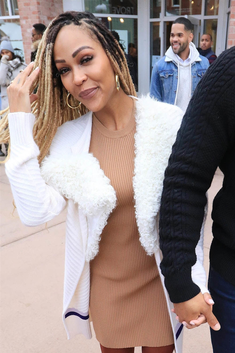 Meagan Good all smiles at the Sundance Film Festival