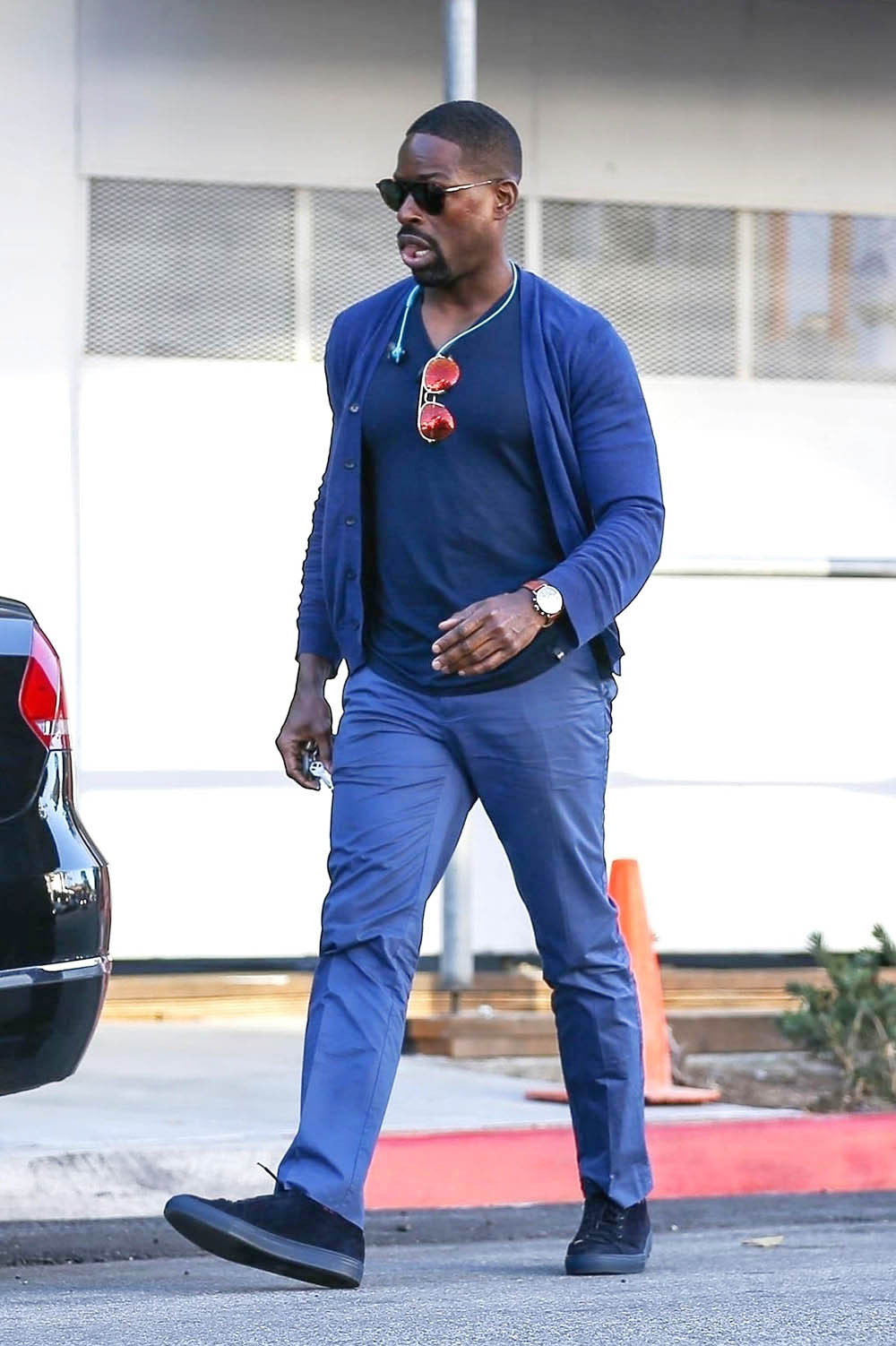 Sterling K. Brown has lunch at The Palm in Beverly Hills