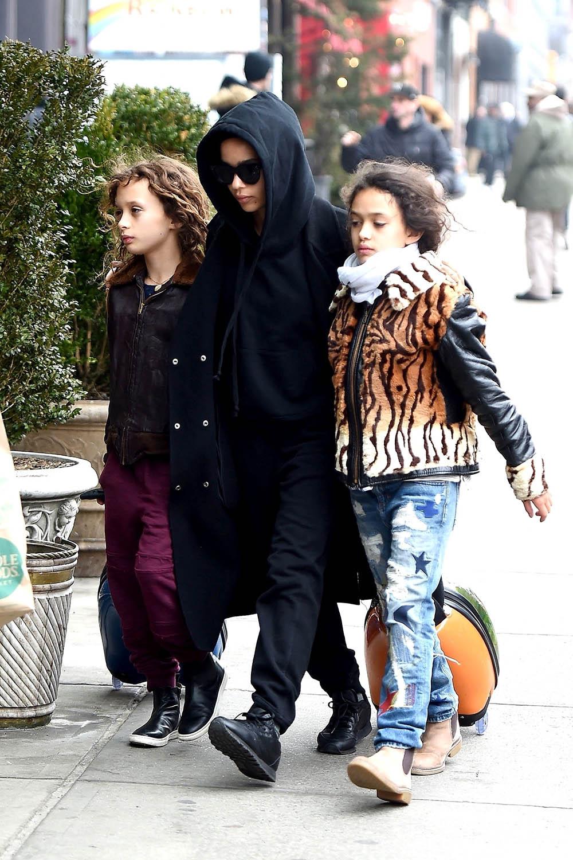 Zoe Kravitz and Karl Glusman with Zoe's siblings Nakoa-Wolf Momoa and Lola Momoa