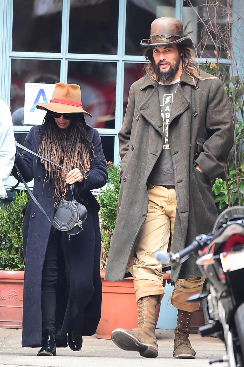 Jason Momoa and Lisa Bonet step out for lunch in NYC
