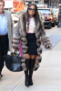Toni Braxton arrives for her appearance on Good Morning America