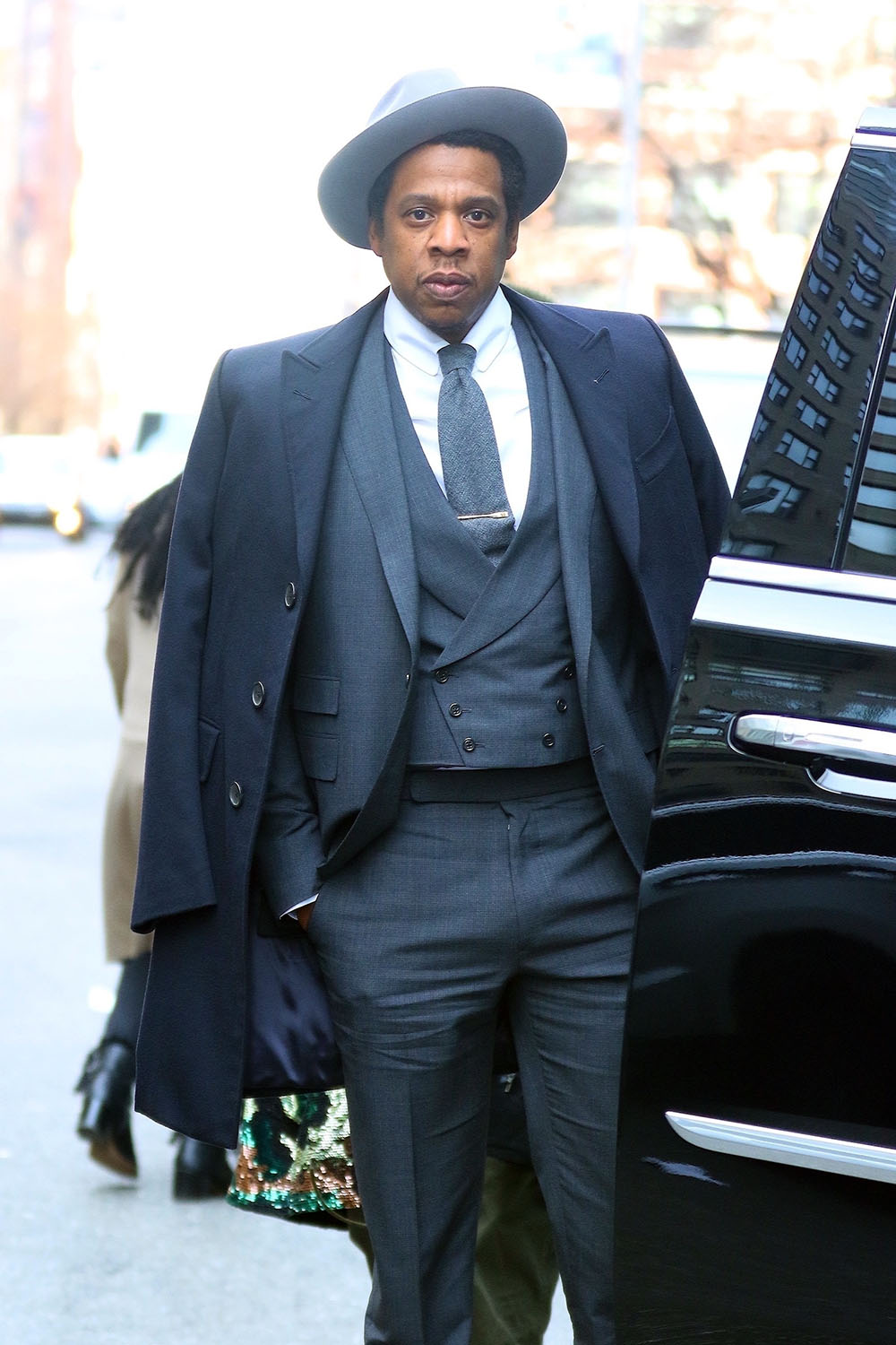 Jay Z is seen before the Roc Nation event