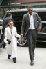Chris Bosh and wife Adrienne enjoy lunch at Bubby's before hearing to Roc Nation brunch in NYC