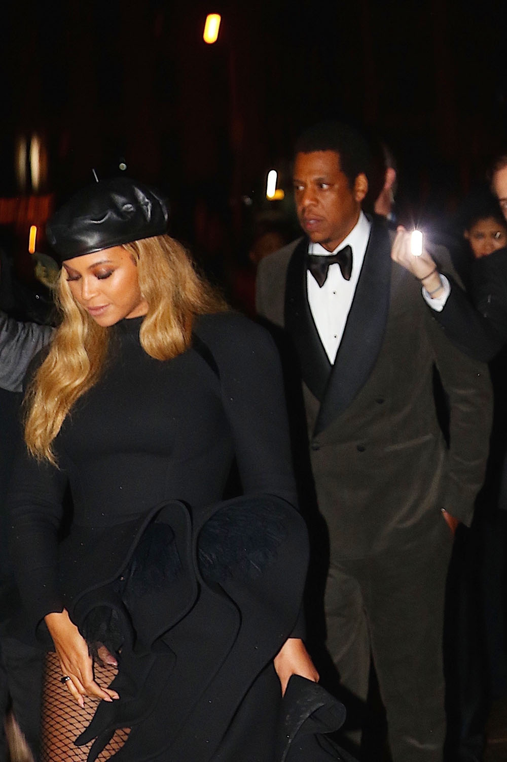 Beyonce and Jay Z celebrate after the Grammy Salute to Himself