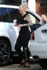 Amber Rose arrives to a plastic surgery clinic in Beverly Hills