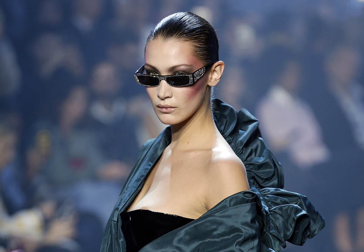 Bella Hadid walks the runway for Alexandre Vauthier at Paris Fashion Week