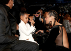 Jay-Z, Blue Ivy Carter, Beyonce and Alicia Keys attend the 60th Annual GRAMMY Awards