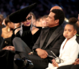 Beyonce, Jay-Z and Blue Ivy Carter at 60th Annual GRAMMY Awards
