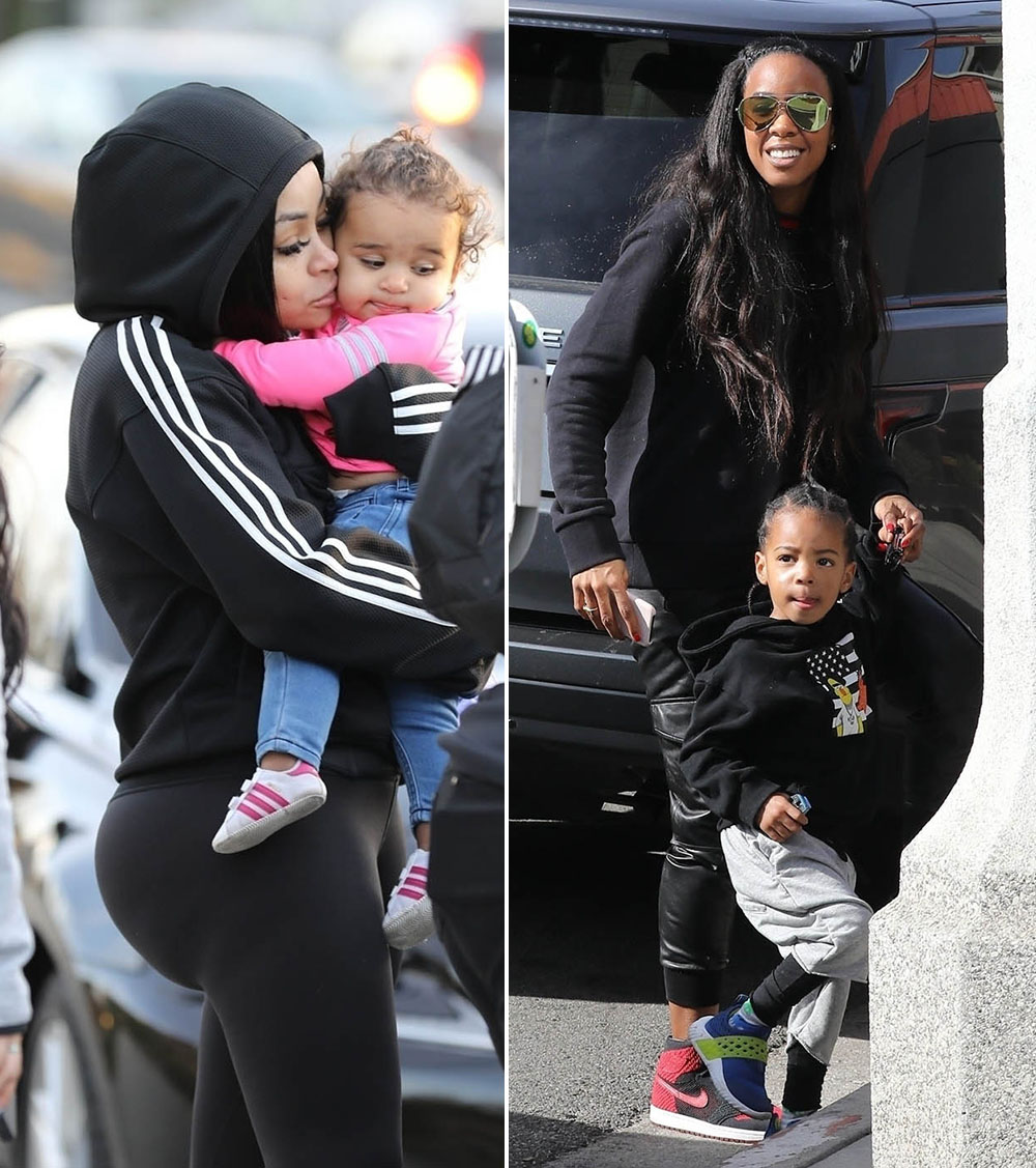 Blac Chyna and Dream; Kelly Rowland and Titan Witherspoon