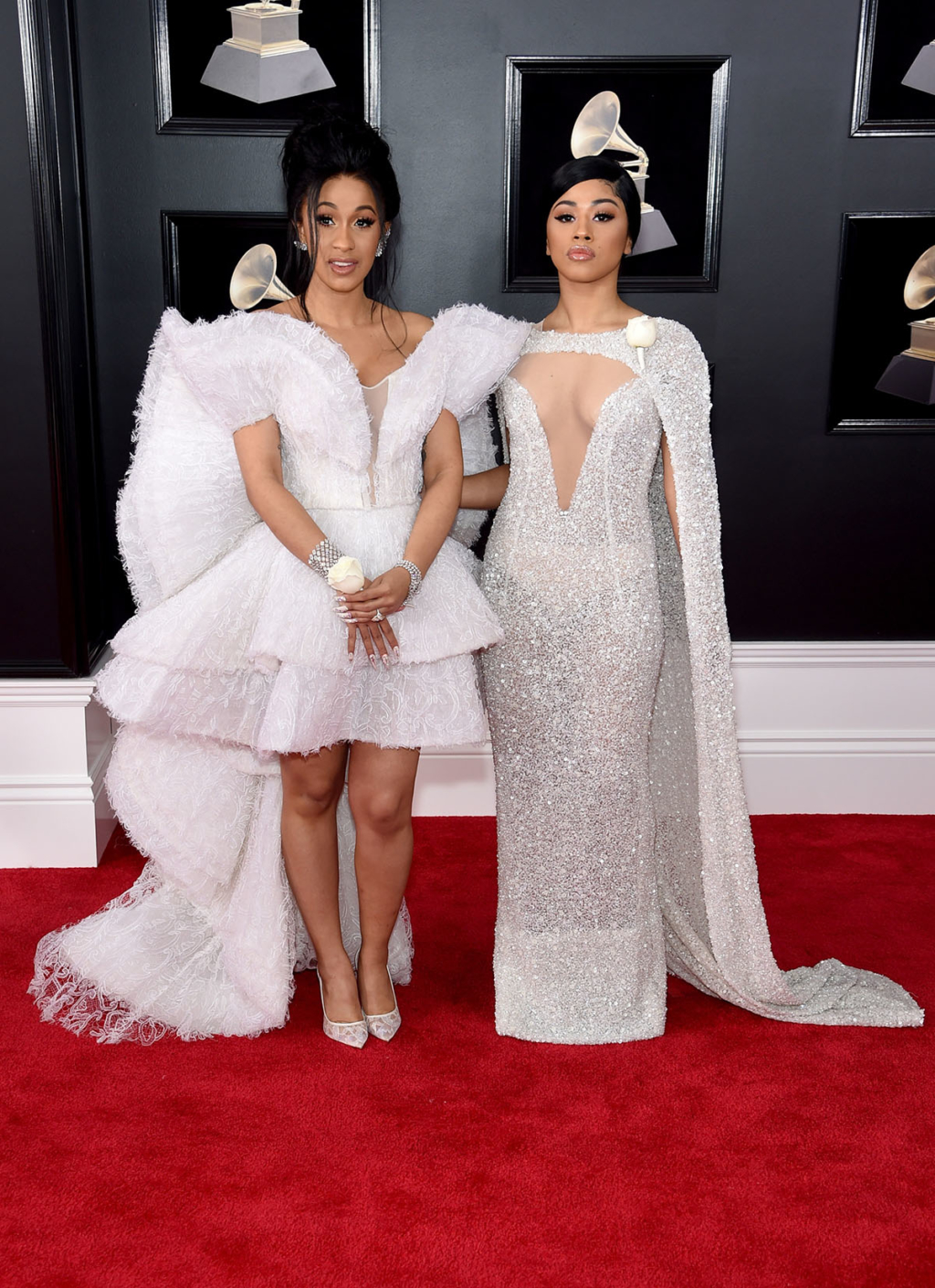 Cardi B L And Sister Hennessy Carolina Attend The 60th