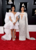 Cardi B (L) and sister Hennessy Carolina attend the 60th Annual GRAMMY Awards