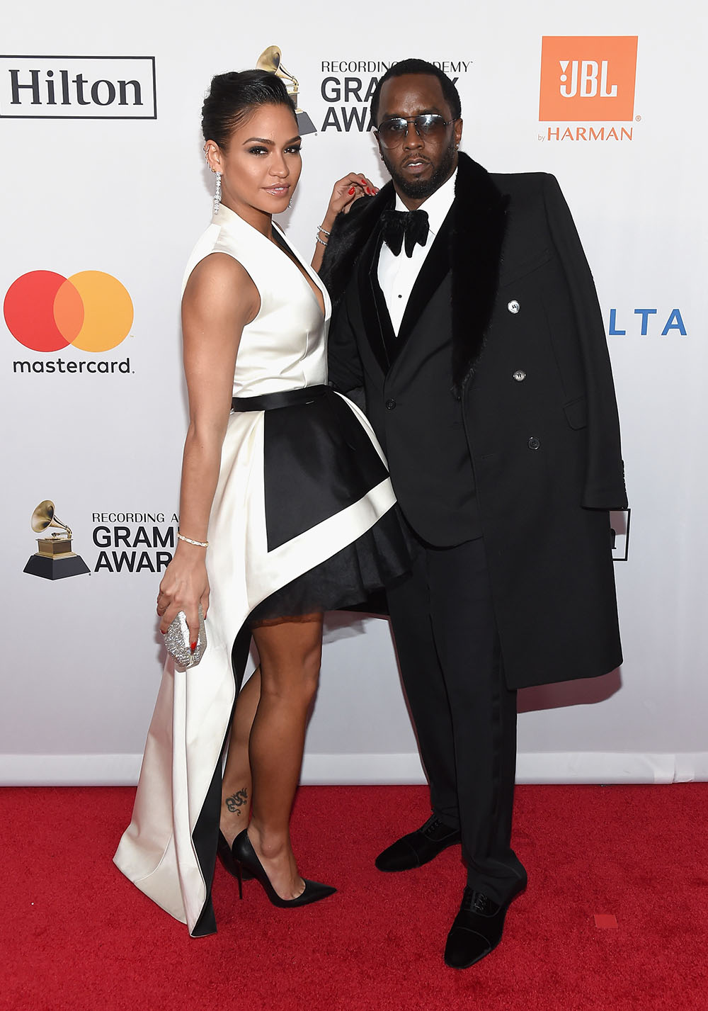 Sean Combs and Cassie attend Pre-Grammy Gala Salute To JAY-Z
