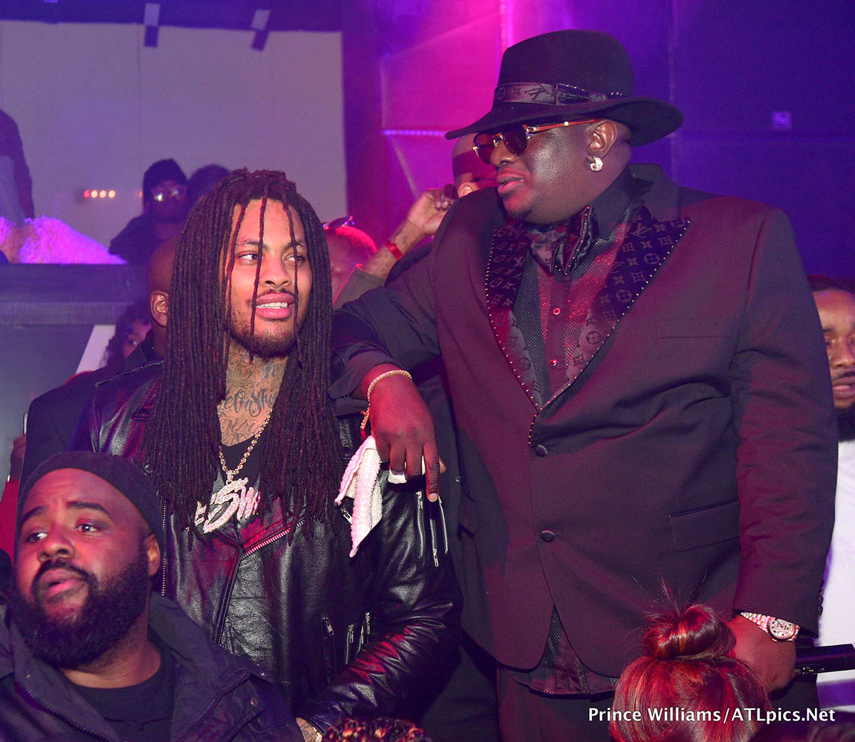 Waka Flocka and Big Bank Black at his 'No Cap' Party at Gold Room