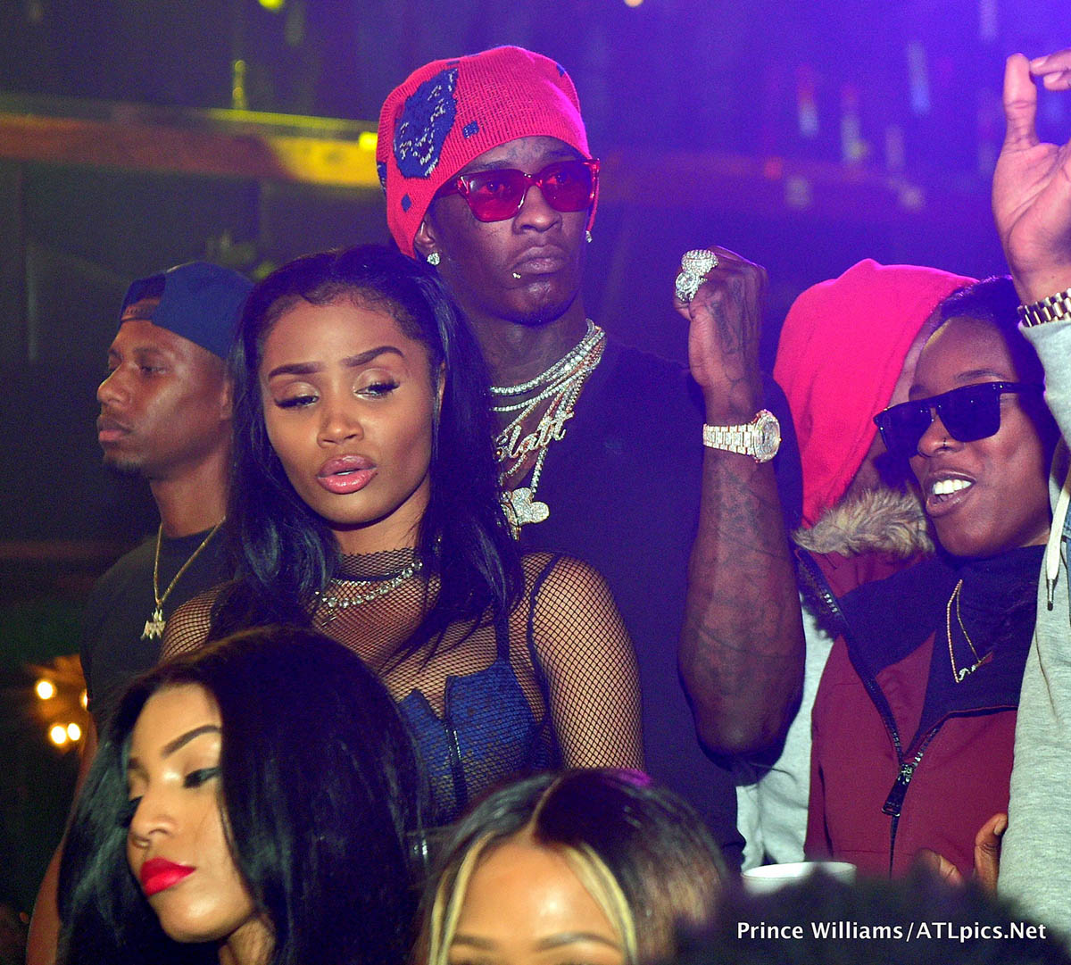 Young Thug & Jerrika Karlae at Big Bank Black 'No Cap' Party at Gold Room