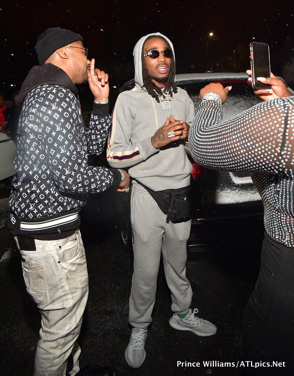 Quavo, Premadonna and Buck at Big Bank Black 'No Cap' Party at Gold Room