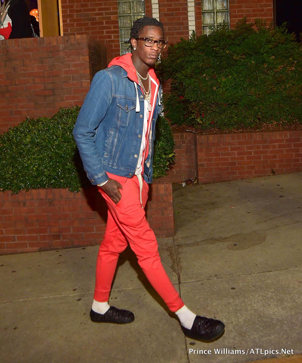 Young Thug at Medusa Lounge in Atlanta