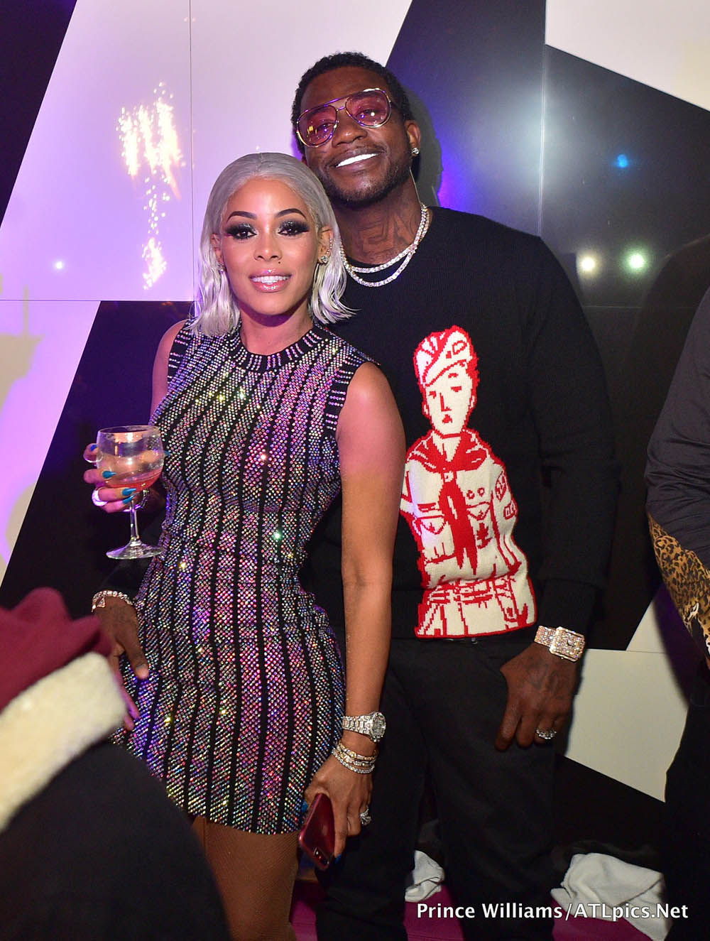 Keyshia Ka'Oir & Gucci Mane celebrate her 33rd birthday at Gold Room