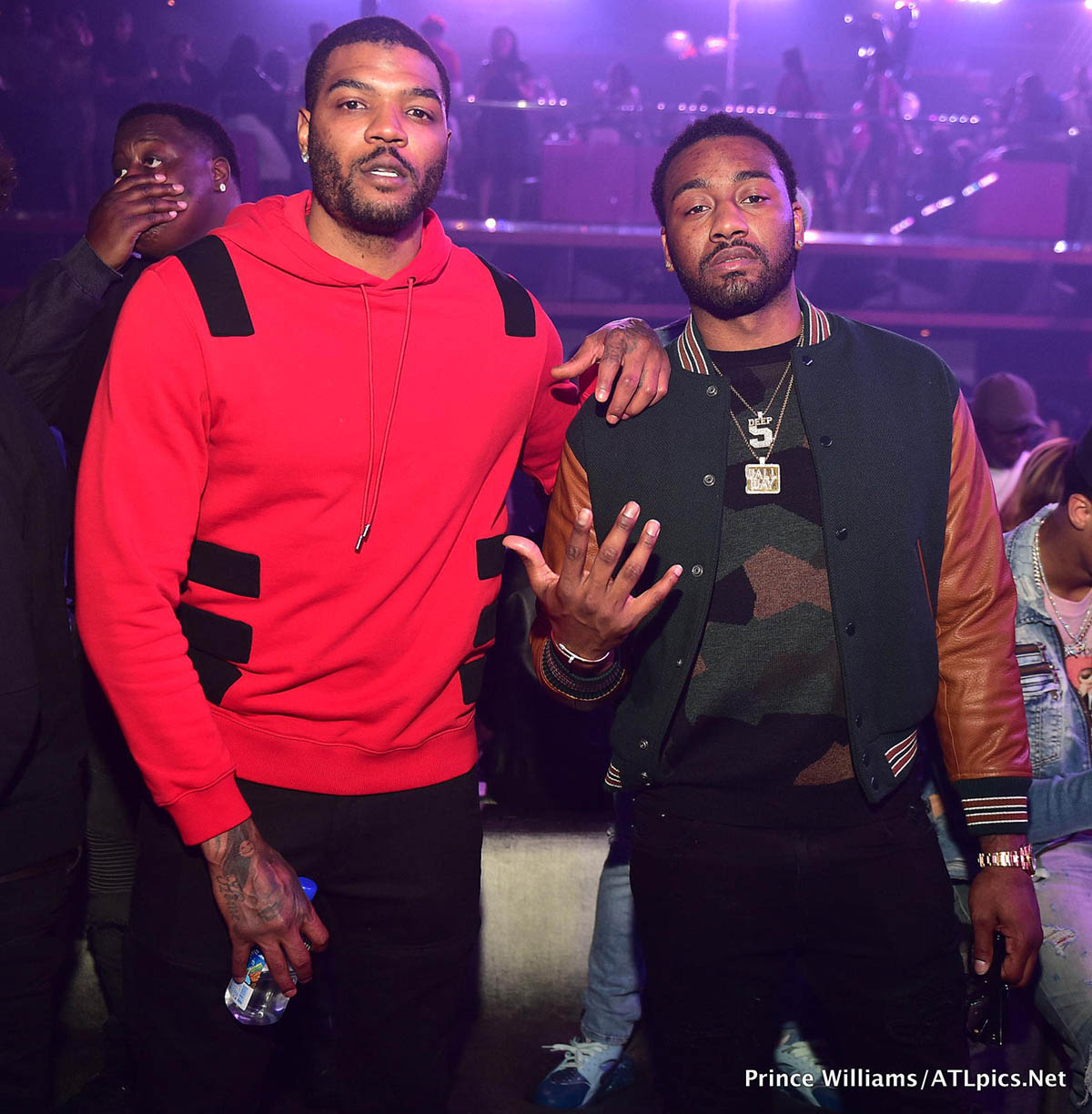 Trouble L John Wall R At Gold Room In Atlanta