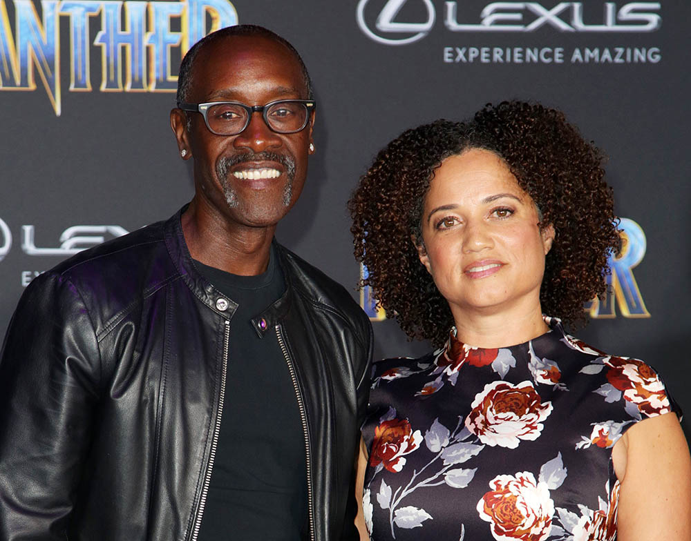 Don Cheadle Amp Bridgid Coulter At Black Panther Film