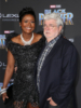 George Lucas & Mellody Hobson at World Premiere of Marvel Studios Black Panther