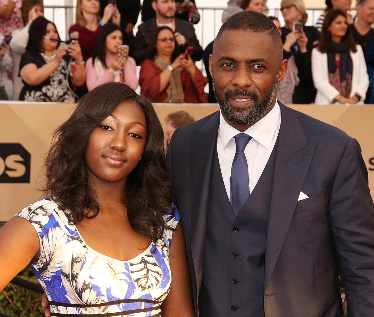 Isan Elba and dad Idris Elba attend 2nd Annual Screen Actors Guild Awards in LA