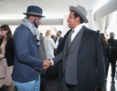 Edi Gathegi and Jay-Z chat at the Roc Nation THE BRUNCH