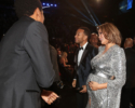 Jay-Z, John Legend and Chrissy Teigen attend the 60th Annual GRAMMY Awards