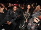 Kendrick Lamar and Rihanna attend the 60th Annual GRAMMY Awards
