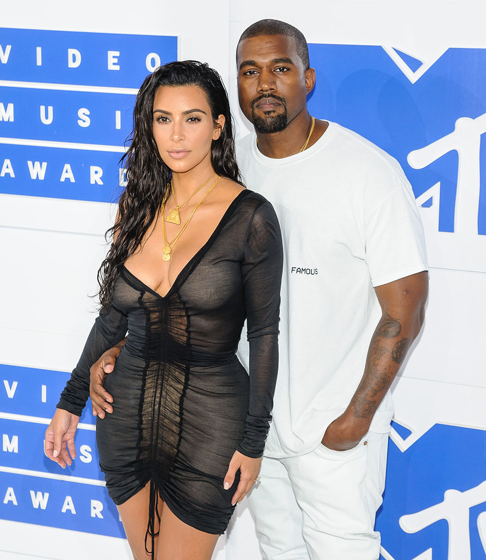 Kim and Kanye West attend 2016 MTV Video Music Awards