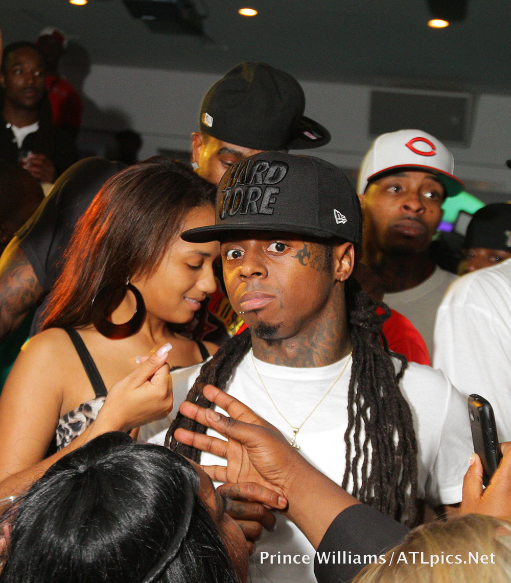 Lil Wayne and fan at Compound in Atlanta in 2011