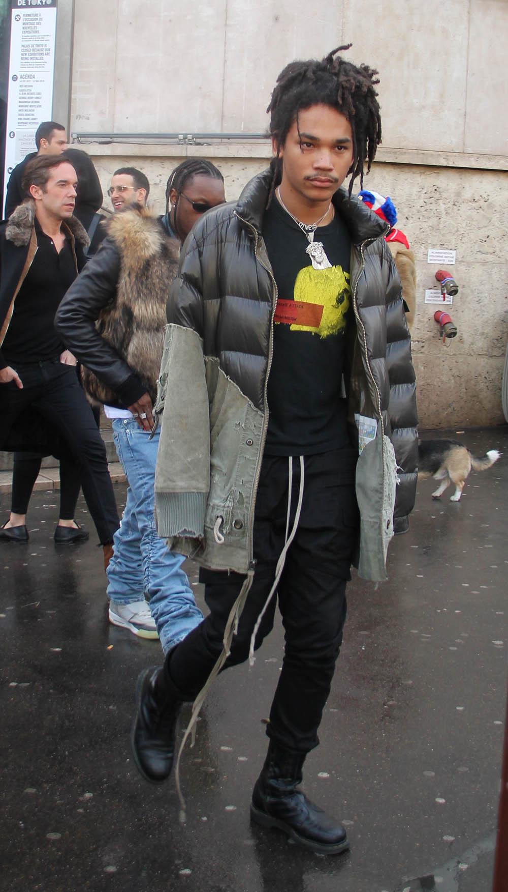Luka Sabbat attends Louis Vuitton Menswear Fall/Winter 2018-2019
