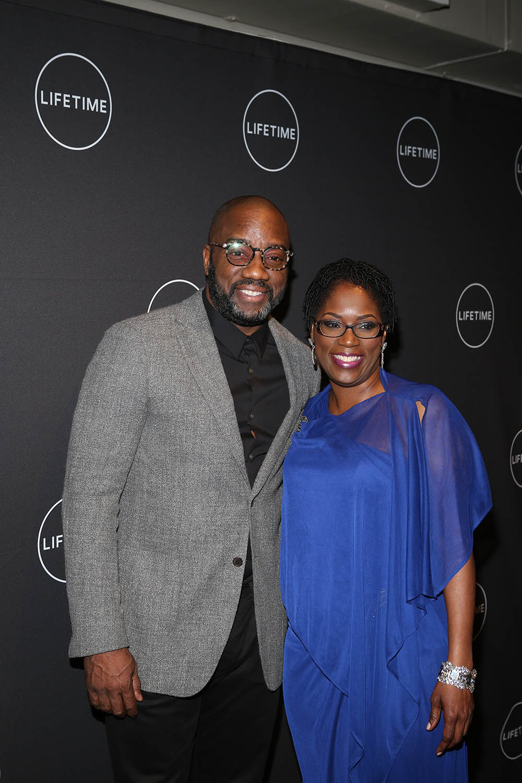 Malik Yoba, Antoinette Tuff at Lifetime Premiere of Faith Under Fire